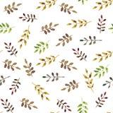 Листья зеленого цвета акварели безшовные иллюстрация вектора