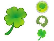 листья иконы клевера 4 Стоковые Изображения RF