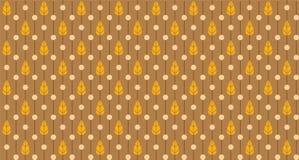 Листья и картина точек польки безшовная Стоковые Фото