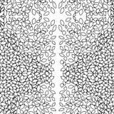 Листья картины черно-белые Стоковое Изображение RF