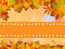 листья карточки предпосылки благодарят вас Стоковое фото RF