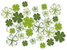 листья клевера 4 предпосылки Стоковые Фотографии RF