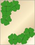 листья клевера 4 Иллюстрация вектора