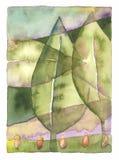 листья ландшафта Стоковая Фотография