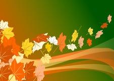 листья летая Иллюстрация штока