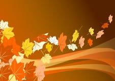 листья летая Бесплатная Иллюстрация