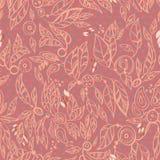 листья многоточий делают по образцу безшовное Стоковая Фотография RF