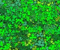 листья находки 4 клевера Стоковые Фотографии RF