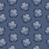 Листья на голубой предпосылке Стоковое Изображение