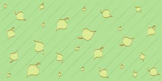 Листья на зеленой предпосылке Стоковое фото RF