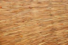 Листья на weave крыши Стоковые Фото