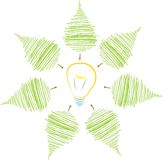 Листья окружая шарик Стоковые Изображения RF