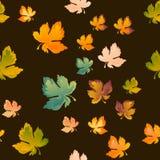 Листья осени безшовная картина, предпосылка вектора Красный, желтый и зеленый кленовый лист, для дизайна обоев, ткань иллюстрация вектора