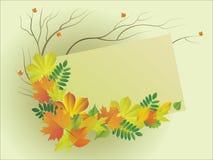 листья осени Иллюстрация штока