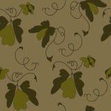 Листья покрашенные в коричневом цвете иллюстрация вектора