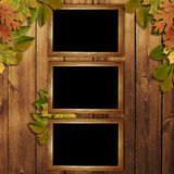 листья праздника карточки осени Стоковое Изображение RF