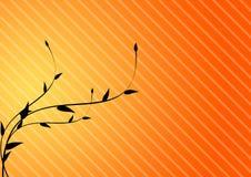 листья предпосылки золотистые Стоковое Изображение