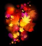 листья предпосылки осени иллюстрация вектора