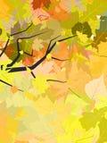 листья предпосылки осени Стоковые Изображения RF