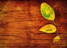 листья предпосылки рециркулируют символ Стоковые Изображения RF