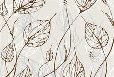 листья предпосылки иллюстрация вектора