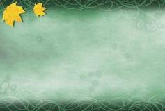 листья предпосылки grungy Стоковая Фотография RF