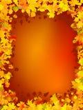 листья рамки осени Стоковые Фото