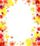 листья рамки предпосылки осени иллюстрация вектора
