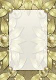 листья рамки стиля Арт Деко металлические Стоковое Изображение RF