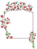 листья рамки цветков Стоковое Изображение