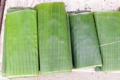 листья сложенные бананом Стоковые Изображения RF