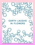 Листья цветков вектор комплекта сердец шаржа приполюсный Милое флористическое собрание, рука нарисованная акварель поздравительны Стоковые Фотографии RF