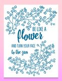 Листья цветков вектор комплекта сердец шаржа приполюсный Милое флористическое собрание, рука нарисованная акварель поздравительны Стоковая Фотография