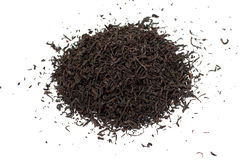 Листья черного чая свободные высушенные Стоковое фото RF