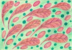 Листья, яичка, шарики иллюстрация вектора