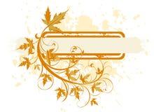 листья grunge знамени Стоковые Фотографии RF