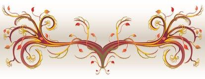 листья grunge листва украшения Иллюстрация вектора