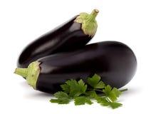 Лист баклажана или aubergine и петрушки Стоковые Изображения RF