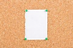 Лист бумаги в коробке сорванной от тетради Стоковое фото RF
