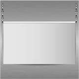 Лист бумаги на предпосылке металлическая стена Стоковое Изображение RF