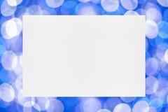 Лист бумаги на предпосылке праздника Стоковые Изображения