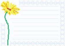 Лист бумаги с стоцветом иллюстрация штока