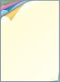 Лист бумаги цвета для писания Стоковое Изображение