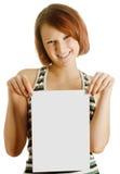 лист девушки бумажный стоковое изображение rf