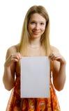лист девушки бумажный стоковые изображения