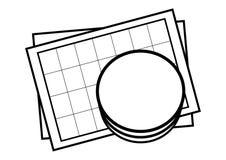 лист иконы базы данных Стоковое Изображение