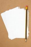 Лист и карандаш тетради Стоковое Изображение