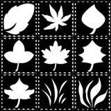 Лист и трава на столбе Стоковые Фото
