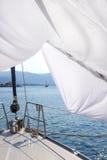 Лист и яхта Стоковая Фотография