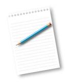 лист карандаша тетради бумажный бесплатная иллюстрация